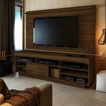 Rack com Painel para TV até 42 Polegadas Treviso III Espresso Móveis Pinho -