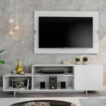 Rack com Painel para TV até 45 Polegadas Siena City Branco 180 cm - Mobly