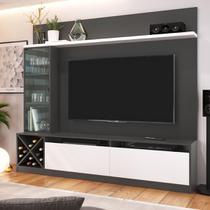 Rack Com Painel Para TV Até 50 Pol Quiditá Home 2021 - Quiditá Móveis