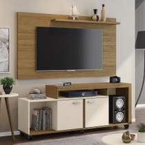Rack Com Painel Para Tv Até 50 Polegadas Bahamas Cinamomo/off-white - Móveis Bechara -
