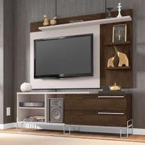 Rack com Painel para TV até 50 Polegadas Portugal Nude e Cedro 160 cm - Móveis leão