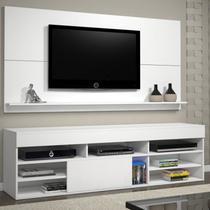 Rack com Painel para TV até 55 Polegadas Twin Espresso Móveis Branco -