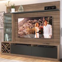 Rack Com Painel Para Tv Até 60 Polegadas 3 Portas  Montana/grafite 2020 - Quiditá Móveis -