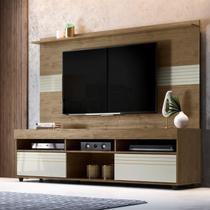 Rack com Painel para TV até 60 Polegadas Samba Espresso Móveis Avelã/Off White -