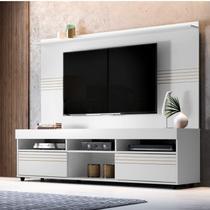 Rack com Painel para TV até 60 Polegadas Samba Espresso Móveis Branco -