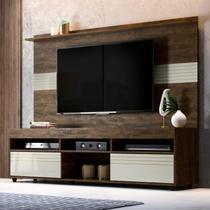 Rack com Painel para TV até 60 Polegadas Samba Espresso Móveis Cacau/Off White -