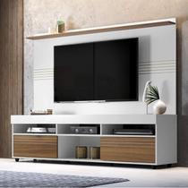 Rack com Painel para TV até 60 Polegadas Samba Espresso Móveis Off White/Nogueira -
