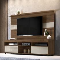 Rack com Painel para TV até 60 Polegadas Samba Yescasa Cacau/Off White -