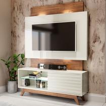 Rack Com Painel Para Tv Até 65 Polegadas 100% Mdf Tb151l Off White/nobre - Dalla Costa -