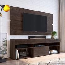 Rack com Painel Para TV até 65 Polegadas e 1 Porta Espresso Móveis Cacau -