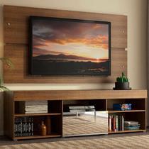 Rack com Painel para TV até 65 Polegadas Madesa Dublin 1 Porta com Espelho - Rustic -