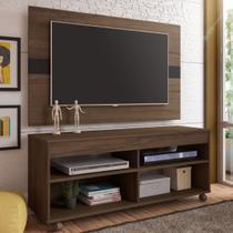 Rack Com Painel para TV Cross Amendoa/Preto - Artely móveis