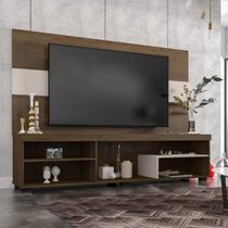 Rack com Painel para TV de até 60 Polegadas 2 Prateleiras e Nichos Rock Siena Móveis -
