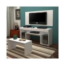 Rack com Painel para TV e Mesa de Centro Sparta - Mavaular Branco - Mavaular moveis