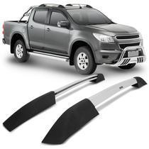 Rack de Teto Longarina Chevrolet S10 CD 2012 a 2018 Bepo Executive Cromado com Acabamento Polido -