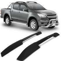 Rack de Teto Longarina Chevrolet S10 CD 2012 a 2018 Bepo Executive Preto 2 Peças Ótimo Acabamento -