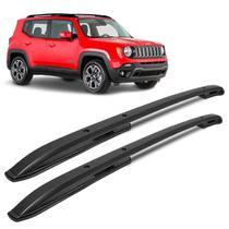 Rack de Teto Longarina Jeep Renegade 2015 a 2019 Preto Alumínio Modelo Original - Prime