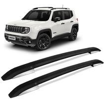Rack de Teto Longarina Jeep Renegade 2015 a 2021 Alumínio Preto CK -