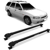 Rack de Teto Travessa Slim Escort Wagon 1983 a 2003 Preto Suporta 45KG Projecar -
