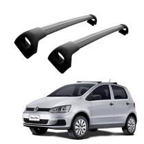 Rack de Teto Travessa Volkswagen Fox 4 Portas 2003 a 2019 Furação Original Preta Projecar Carga 45Kg -