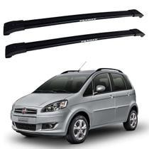 Rack De Teto Travessas Fiat Idea 2005 2006 2007 2008 2009 Até 2016 Eqmax Alumínio Preto -
