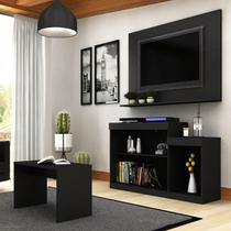 Rack E Painel Para TV 55 Pol Trevalla Atenas Com Mesa De Centro -