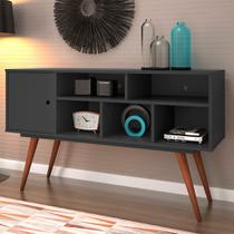 Rack Essen Preto 123 cm - Mobly