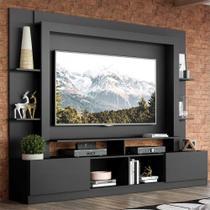 """Rack Estante c/ Painel TV 65"""" e 2 portas Oslo Multimóveis Preto -"""