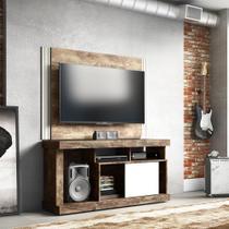 Rack Furnas com Painel Ideal para TV até 42 Polegadas 1 Porta Quartzo Linea Brasil -