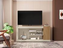 Rack Goya Para Sala De Estar Tv 50 Polegadas Cor Off White/Buriti - Caemmun - Doce Lar Decorações