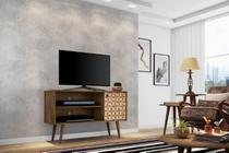 Rack Jade p/ Tv até 42 pol Madeira com 3D - Moveis bechara