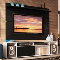 Rack Madesa Cancun e Painel para TV até 65 Polegadas - Branco/Preto/Preto -