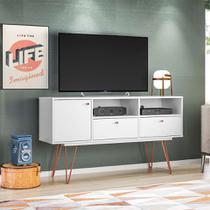 Rack Ness Branco 140 cm - Olivar móveis