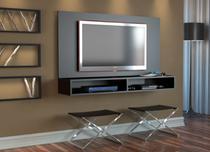 Rack Painel 2 Nichos para TV até 32 Polegadas Appunto - Preto -