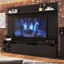 Rack para TV 1,60m 2 Portas com Adega e Painel 2023 Quiditá -