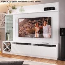 Rack para TV 1,60m com Painel, Cristaleira e Adega 2021 Quiditá -