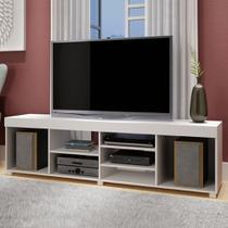 Rack para TV 180 cm Ibirama Cp 151 Branco - Brv  móveis