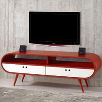 Rack para TV 2 Gavetas Dream 620 Vermelho/Branco - Máxima móveis