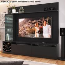 Rack para TV 2,00m com Painel, Cristaleira e Adega 2020 Quiditá -