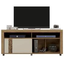 Rack Para TV 60 Polegadas Joy Jatoba Buriti/Off White Caemmun