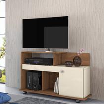 Rack para TV até 32 Polegadas com 1 Porta Flash Belaflex Nature/Branco -