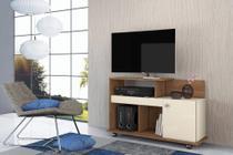 Rack para TV até 32 Polegadas com 1 Porta Flash Nature/ Off White - Mobler -