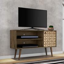 Rack para TV até 42 Polegadas 1 Porta Retrô Jade Móveis Bechara Madeira Rústica/3D -