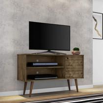 Rack para TV até 42 Polegadas 1 Porta Retrô Jade Móveis Bechara Madeira Rústica -