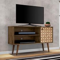 Rack para TV até 42 Polegadas Jade Madeira Rústica e Madeira 3D - Móveis bechara
