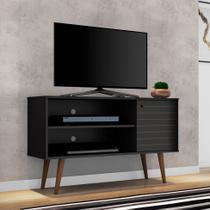 Rack para TV até 42 Polegadas Jade Preto Fosco - Móveis bechara