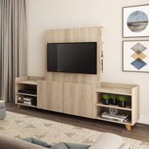 Rack para TV até 50 Polegadas 2 Portas com Nichos Be Mobiliário Aveiro -