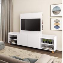 Rack para TV até 50 Polegadas 2 Portas com Nichos Be Mobiliário Branco TX -