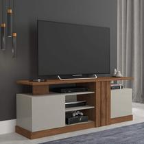 Rack para TV até 50 polegadas com Rodízios Esmeralda Siena Móveis Savana/Off White -