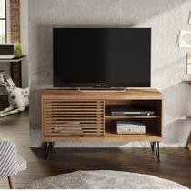 Rack para TV até 50 Polegadas Pés de Ferro Frizz Filete Líder Design Caemmun Buriti -